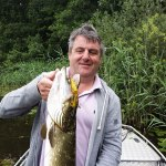 Paul with a topwater caught Pike
