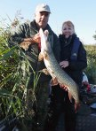 Allan with the lovely Debbie and her first ever Pike